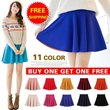 [Free Shipping] Buy 1 Get 1 Free/Colorful Skater Skirt/2014 Pleated Skirt/Candy color/Short Skirt