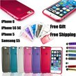 **2 Free Gifts**iPhone 6 Plus 5S 5C 5 Samsung Galaxy S5 mini note 3 4 Soft Gel Silicon Colorful Flip leather Case Cover