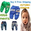 Free Ship!New Fashion Baby Boys Pants/Kids Casual Autumn Cartoon Trousers/High Quality Jeans For Little Boys