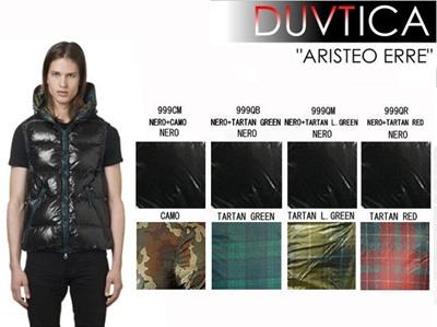 DUVETICA デュベティカ デュベチカ ダウンベスト ARISTEO ERRE アリステオ エレ U 2265 00 1035R 999CM NERO+CAMO 999QB TARTAN GREE