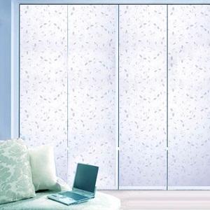 蓝紫色欧式田园磨砂防紫外线防爆保护私密厨房卫生间淋浴房玻璃墙贴