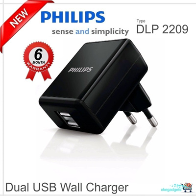 PHILIPS Dual USB Home Charger 5W105W