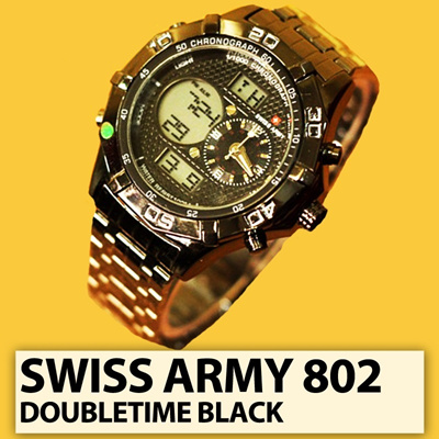 [MENS WATCH] BRANDED SA 802 DOUBLETIME BLACK