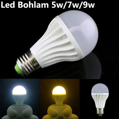 Led Bohlam 5w 7w 9w Garansi years White Colour Only