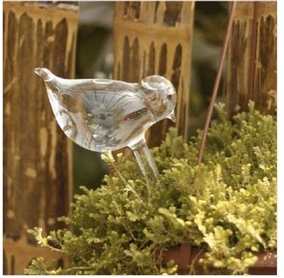 创意手工玻璃小鸟浇花器自动浇花控制器
