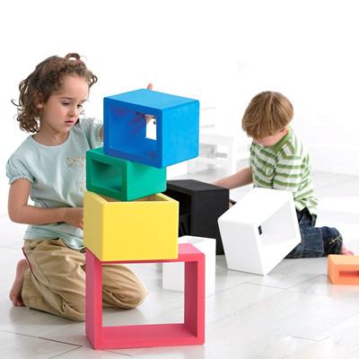 台湾原装weplay幼儿园益智玩具eva搭建彩色,黑白积木创意空心2104