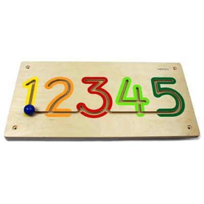 七色花幼教 德国贝乐多幼儿园玩具墙面游戏强饰轨道玩具数字1-5