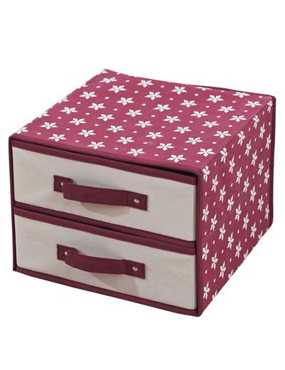 圣诞雪花上下两层内衣收纳盒