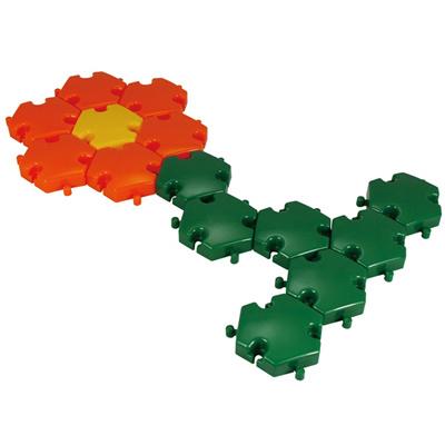 七色花幼教幼儿园益智玩具建构搭建塑料积木积塑桌面互动游戏简介