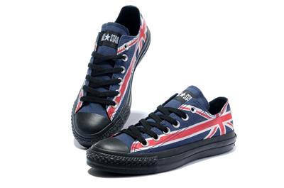 匡威 英国国旗-限量版 低帮情侣帆布鞋