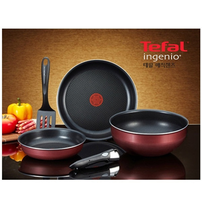 Qoo10 tefal non stick cookware set magic hands 5 pcs for Qoo10 kitchen set