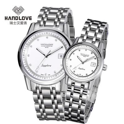 汉爱在瑞士手表排名_皇家系列 handlove瑞士汉爱男表情侣对表防水女表品牌手表 男士表h2.