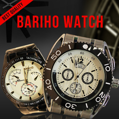 [Bariho]STAINLESS WATCH**COUPLE WATCH**MEN AND WOMEN WATCH**BEST QUALITY