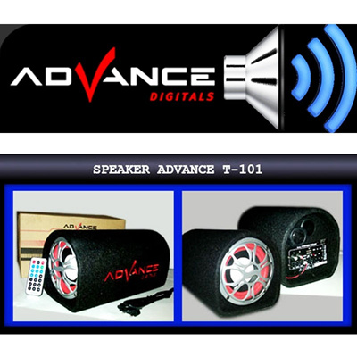 SPEAKER ADVANCE T-101 | 5 inch Sub Woofer + Remote Control + USB and Slot SD Card Reader High POWER