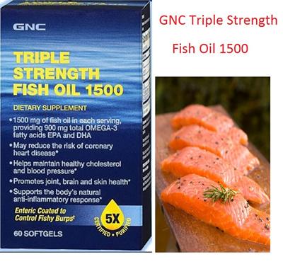 Qoo10 Gnc Triple Strength Fish Oil 1500 Omega 3 Fatty