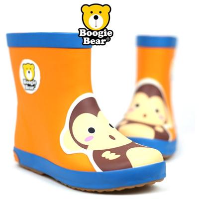 [韩国正品] 时尚可爱儿童雨鞋水鞋雨靴-正品boogiebear-monkey orange