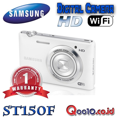 SAMSUNG CAMERA DIGITAL ST-150F Wifi - 16MP - 5x Optical Zoom - 720pHD - Wifi - Digital Image Sta