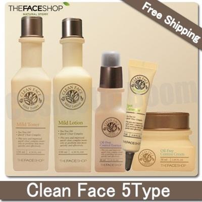 harga Clean Face5Type(Toner/Lotion/Essence/Spot Corrector/Cream) Qoo10.co.id