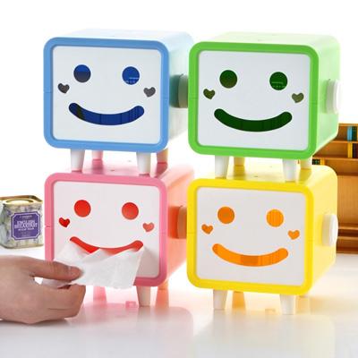 可爱笑脸纸巾盒/创意纸巾抽/长方形卡通卷纸盒322g