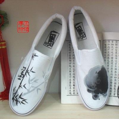 diy帆布鞋设计图花边