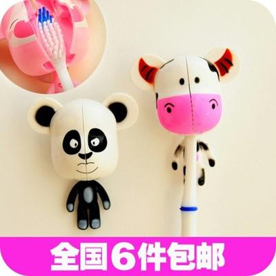 卡通可爱小动物奶牛熊猫吸盘式牙刷架怎么样