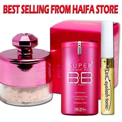 BEST SELLING FROM HAIFA/LOOSE POWDER/GOLD SERUM 1+1/PUREMED GOLD SERUM