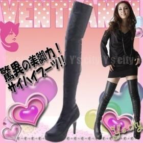 新品/サイハイブーツ/S Cawaii掲載/履くだけで脚にフィットして驚異の美脚力