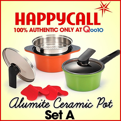 HAPPYCALL ALUMITE CERAMIC POT SET A