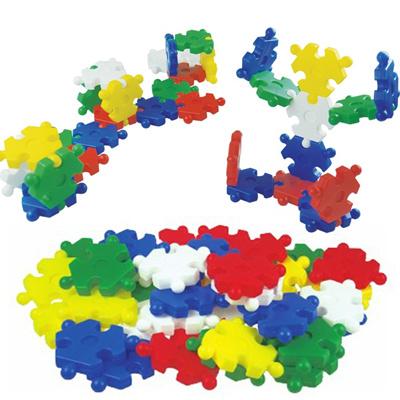 花幼教台湾游思乐进口玩具幼儿园积塑三角葡萄积木