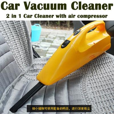 CAR VACUUM CLEANER 2 in 1 car vacuum cleaner with compressor