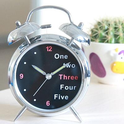 双铃数字钟 闹钟 的静音闹钟创意时钟电子石英钟