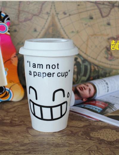 麦考林 我不是纸杯之笑脸杯-露牙笑脸