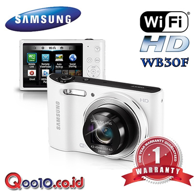 SAMSUNG CAMERA DIGITAL WB30F - 16MP CCD - 10x Optical Zoom - SMART CAMERA 2.0 - 720p HD - ART BR