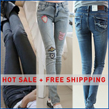 Hottest Women Jeans+FREE DELIVERY /autumn must have item  Fashion Bottoms Jeans casual long Slim Pencil Pants 100% Satisfation guaranteed skiny thin denim