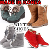 [PAPERPLANES]★ Korea top brand ★ Womens winter shoes fur boots ★ made in KOREA ★ warm lining fashion walker snow shoe casual sneakers wedge heels long middle ankle length girl ladies kpop sale