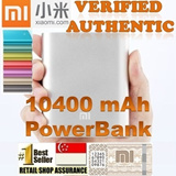 ★100% Authentic!★[CHEAPEST!]SG Shop Assurance! Xiaomi 10400mAh Powerbank Portable Charger iphone 5/5S iOS7 Samsung/xiao mi mi3 Power Bank Silicone 10400 mah Yoobao 5200 redmi USB Light
