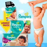 FREE EASY UPS TRAINERS! LIMITED STOCKS - Pampers Active Baby Newborn Free Delivery to Doorstep - World No.1 Best Diapers!