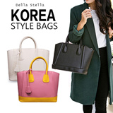【M18】[Della Stella] 2015 New style  women handbag / high quality cow leather and cross pattern / fashionable and all-match / large capacity and practical bag / multi-color bag  for female DLG27