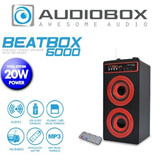 AudioBox BeatBox 6000 Portable Stereo Speaker with FM Radio. Clock and Alarm Function. Built-in rechargeable Lithium-ion battery. Additional Battery slot available for Back-up Power.