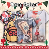 Small size]Design By Korea True Color Short sleeved T-shirt Unique printing High quality cotton Women T-shirt Christmas Gifts