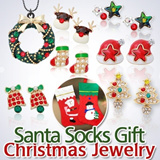 ▶Christmas Gifts★pierce[Christmas Jewelry]Santa/socks/nailparts/ gift/Earrings/Necklaces/Girlfriend gift/Accessories/Silver