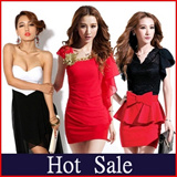 Free shipping★600 new style party dresses★, unique one of the threshold - Sexy Lady one-piece Sexy Lace Chiffon