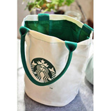 [VINS]Starbucks bag / Shopping bag / Starbucks canvas lunch tote bag / 2Pieces with 1 Shipping Charge!