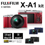 [Fujifilm]Fujifilm X-A1 XC16-50mm Kit + XC50-230mm lens ★FREEBIES: Extra Battery + 16GB + Case + Cleaning Kit + Monopod ★APS-C CMOS Sensor ★ Wireless Transfer ★1 Year Fujifilm Singapore Warranty