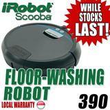 IROBOT SCOOBA 390 FLOOR-WASHING ROBOT LOCAL WARRANTY FREE DELIVERY PLUG PLAY