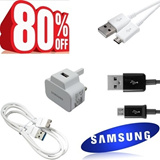 ORIGINAL SAMSUNG Fast Charge Micro USB Cable Galaxy Note 3 2 S5 S4 S3 S2 Mega 5.8 6.3 LG Sony Travel adapter 3-PIN Plug Xiaomi Redmi hongmi