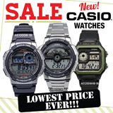 [CHEAPEST PRICE IN SPORE] *CASIO GENUINE* AE1000 DIGITAL WATCH SERIES! Christmas Sale! Free Shipping and 1 year warranty!