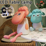 USB Led desk Lamp Rechargeable Table Lamp Lovely Cartoon Sheep Bedside Lamp LED Light for Home Relaxed Learning Reading Best Gifts
