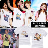 [BUY 2 FREE SHIPPING]2014 New Arrival Korean Wave/SMTown Concert/EXO/SJ/Girls Generation /SHINee/TVXQ /Similar Short T-shirt/K-POP Stars T-shirt/ Cartoon Team Uniform/ Cuople T-shirt