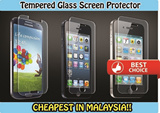 [Malaysia Seller]Tempered Glass Screen Protector Curved (0.3mm)-Samsung Galaxy S4/S5/Note2/Note3 Iphone 4/4S/5/5S/6/6Plus/ Mi3/Redmi 1S/Redmi Note